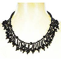 Ожерелье из чёрного агата разной формы, длина 60см Код:574782201