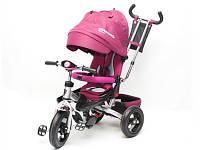 Трехколесный велосипед-коляска Azimut Crosser T-400 розовый