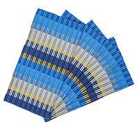 Циновка текстиль 30*45см mix синий, упаковка 4штуки