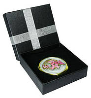 Зеркальце сувенирное в коробке, эмаль, стразы