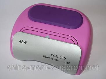 Гібридна Beauty nail UV CCFL+LED лампа 48W для манікюру педикюру 12W CCFL + 36W LED