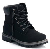 Мужские ботинки зимние черного цвета  размеры 42,43,45