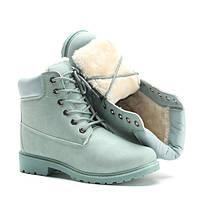 Зимние бирюзовые ботинки на каждый день