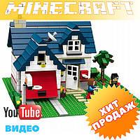 Конструктор лего Майнкрафт LELE Minecraft 33037 (аналог лего 5891) Загородный дом 3 в 1, 539 дет