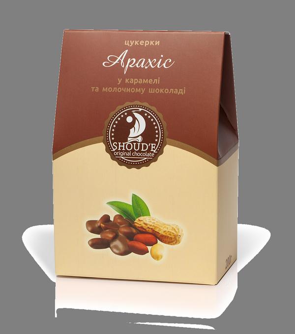 """Конфеты """"Арахис в карамели и в молочном шоколаде"""" в коробке"""