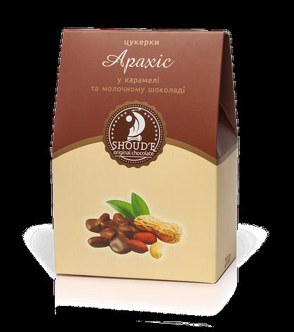 """Конфеты """"Арахис в карамели и в молочном шоколаде"""" в коробке, фото 2"""