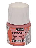 Краска для стекла и керамики Pebeo Ceramic 45мл №034 Розовый