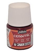 Краска для стекла и керамики Pebeo Ceramic 45мл №029 Рубиновый