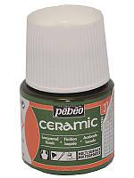 Краска для стекла и керамики Pebeo Ceramic 45мл №037 Зеленый