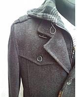 """Мужское пальто """"West-Fashion"""" с капюшоном,драп"""