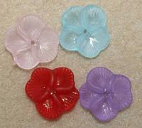 Цветок.бусина. акрил. размер 20 на 20 мм.