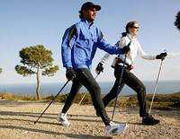Палки телескопические для походов и скандинавской ходьбы