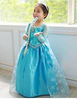Детское карнавальное платье костюм Эльзы р. 100, 110, 120, 130 холодное ледяное сердце 2 Frozen