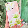 Чехол накладка на iPhone 5/5s/5se прозрачный с лилиями