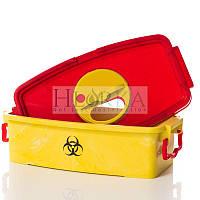 Контейнер для сбора, транспортирования, хранения и обеззараживания медицинских отходов химическим методом, 3л