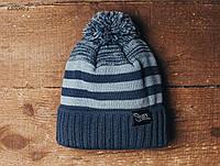 Зимняя шапка (с помпоном) Staff - Art. KS0060-1 (синий | голубой)