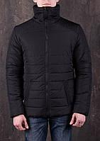 Куртка стеганая зимняя мужская черная