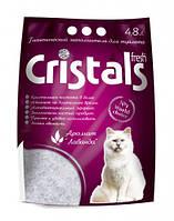 Гигиенический силикагелевый ароматизированный наполнитель для кошачьего туалета Cristals fresh