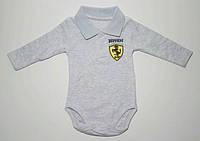Боди- рубашка для новорожденных 56-80