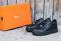 """Мужские зимние кроссовки Nike Air Force """"Black"""" размеры 45.46"""