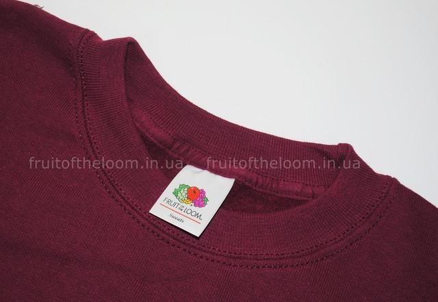 Бордовый детский классический свитер