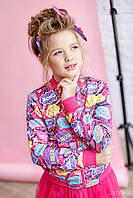 Куртка бомбер для дівчинки , фото 1