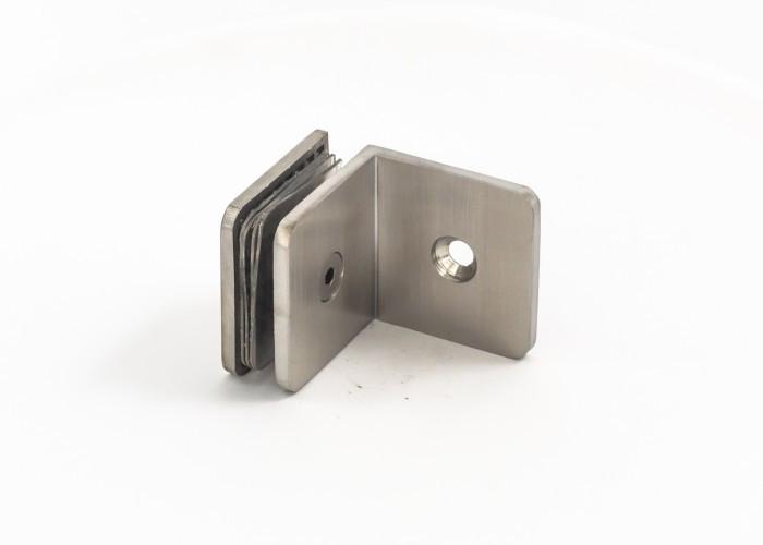 ODF-01-06-01 (сатин)  Крепление стекла к стене 90 градусов из нержавейки