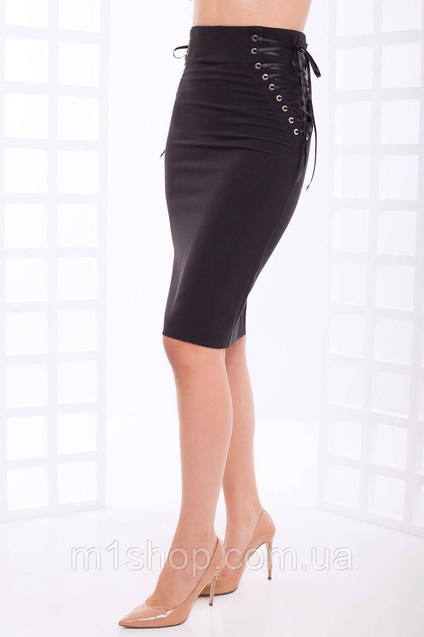 Женская юбка-карандаш на шнуровке (Энрика lzn)