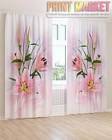 Фото шторы маленькие розовые цветы