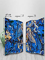 Ширма тканевая, двусторонняя, Листья в инее