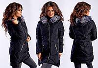 Черная зимняя курточка. Полубатал!