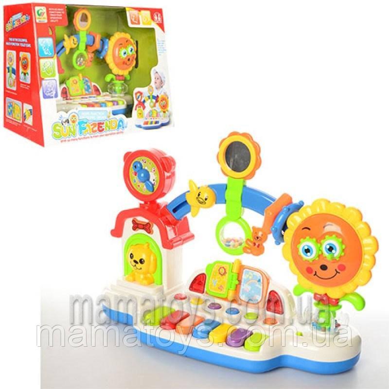 Игра BB357 для малышей. пианино. муз,звук,свет, погремушка, трещотка, часы