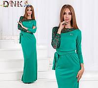 Платье в пол с поясом д1247 ДГ