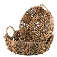 Плетеные корзины для хранения круглые, 2шт