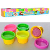 Пластилин для рук и лепки 5цветов, баночка крышкой, ароматизириванный, 28-34г, в коробке
