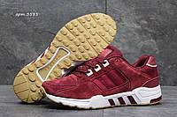 Кроссовки мужские Adidas Equipment Весна Осень. Замша 100% Бордовые