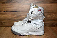Зимние женские сапоги Adidas Terrex 2 белые 3115