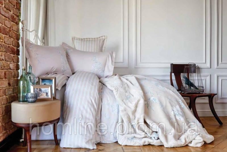 Постельное белье Karaca Home сатин Passero синее евро размер