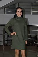 Женское трикотажное платье стойка  Турция