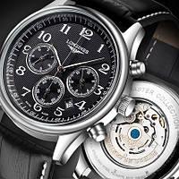 Часы Longines Master Collection Black, мужские механические копия