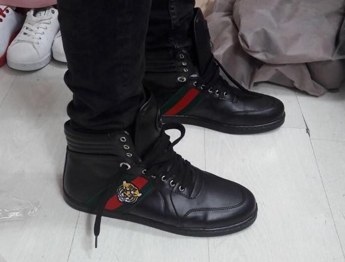 Кроссовки мужские GUCCI D2364 черные