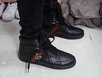 Кроссовки мужские GUCCI D2364 черные, фото 1