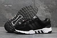 Кроссовки мужские Adidas Equipment Весна Осень. Замша 100% Черные с белым