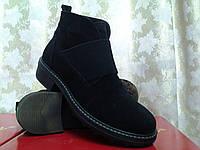 Стильные зимние замшевые ботинки Terra Grande