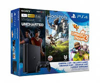 Sony Playstation 4 1TB Slim+Horizon+Uncharted ZG+LBP 3