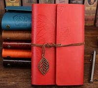 Винтажный подарочный блокнот А5 ( красный ), фото 1