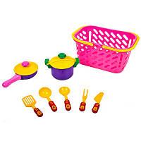Набор посуды 04-435 сковородка, кастрюля, в корзине / Киндер-Вей /