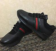 Кроссовки мужские GUCCI D2372 черные, фото 1