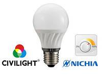 Светодиодная лампа 7Вт 2700К CRI90 Е27 CIVILIGHT DA60 K2F40T7 диммируемая CIVILIGHT 5317