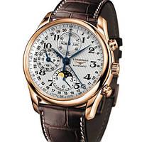 Часы Longines Master Collection Moon gold, механические, мужские